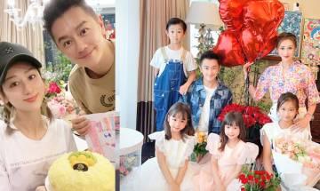 陳浩民與妻蔣麗莎曬一家6口新相賀結婚10周年 成家眼大大如餅印