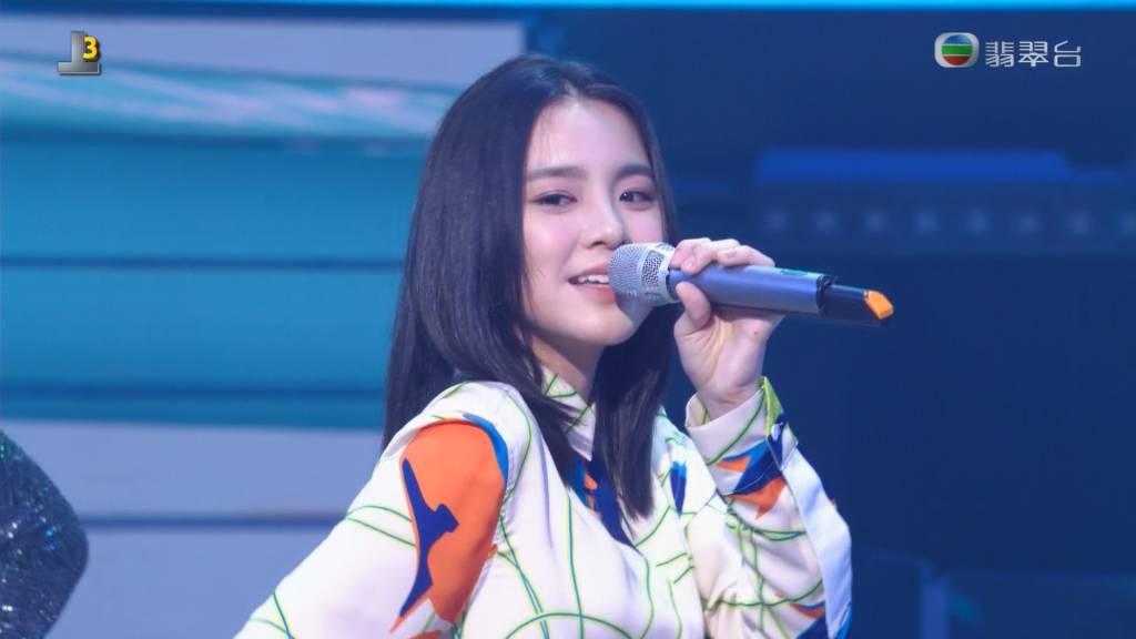 第二回合Chantel跳唱鄭秀文的快歌《Chotto等等》。(圖片來源:tvb)