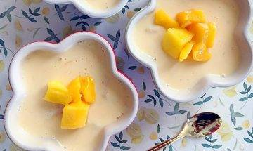 芒果布甸食譜-夏日消暑甜品 超簡易食譜10分鐘完成
