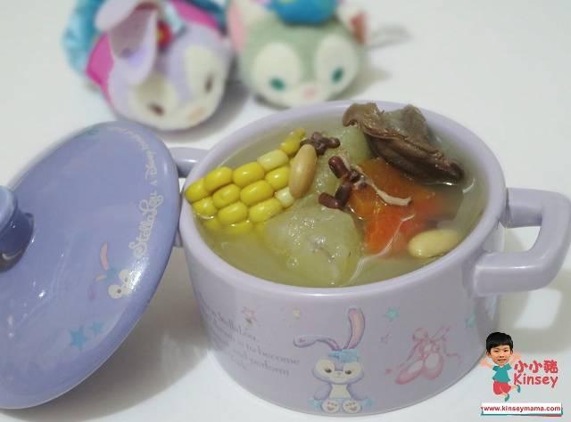 小暑湯水食譜1.黃瓜荷葉粟米鬚素湯(圖片來源:小小豬Kinsey)