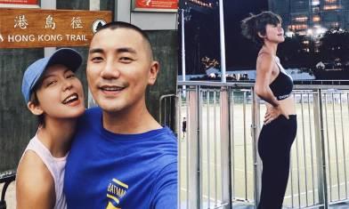 洪永城妻懷孕跑步被網民鬧「唔錫BB」 梁諾妍高EQ回覆 揭呢位健身教練背後幾勁