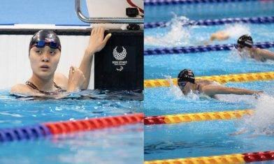東京殘奧(帕奧) 17歲陳睿琳戰100米蝶泳決賽 慢0.15秒得第4 明戰200米自由式 集氣支持!