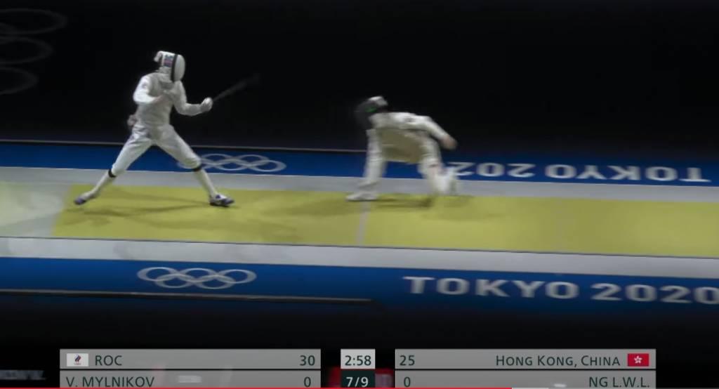 奧運表現一鳴驚人 藝人們大讚(圖片來源:ViuTV奧運直播電視截圖)