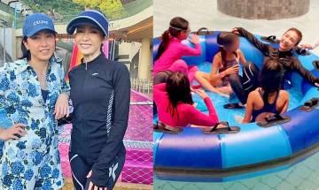 黎姿帶囡囡與甘比玩轉水上樂園 49歲著泳裝騷好身材 獲讚一轉身激似少女
