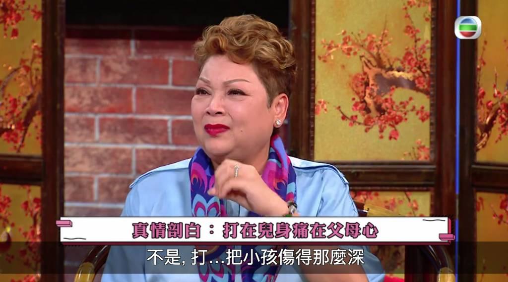 肥媽真情剖白爆喊指1招教仔最有效(圖片來源:TVB節目《代溝關注組 》電視截圖)