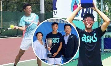 17歲黃澤林美網青少年男雙奪冠創香港歷史 靠校長爸爸1招成就兒子