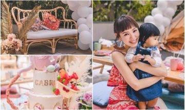 40歲譚凱琪為愛女辧夢幻生日會 4500萬後花園用途超多