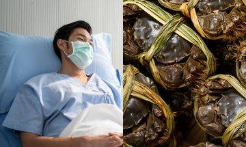 大閘蟹死後菌落增22% 男子食隔夜蟹患腦膜炎 專家:死了一定不能食