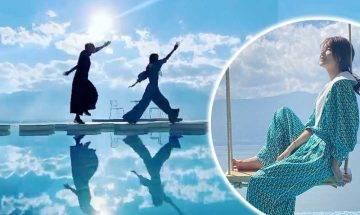 黃翠如40歲生日體會無常 陪老公蕭正楠北上「天空之鏡」靚景酒店打卡